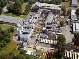 Luftbild der Brennkammer-Prüfstände